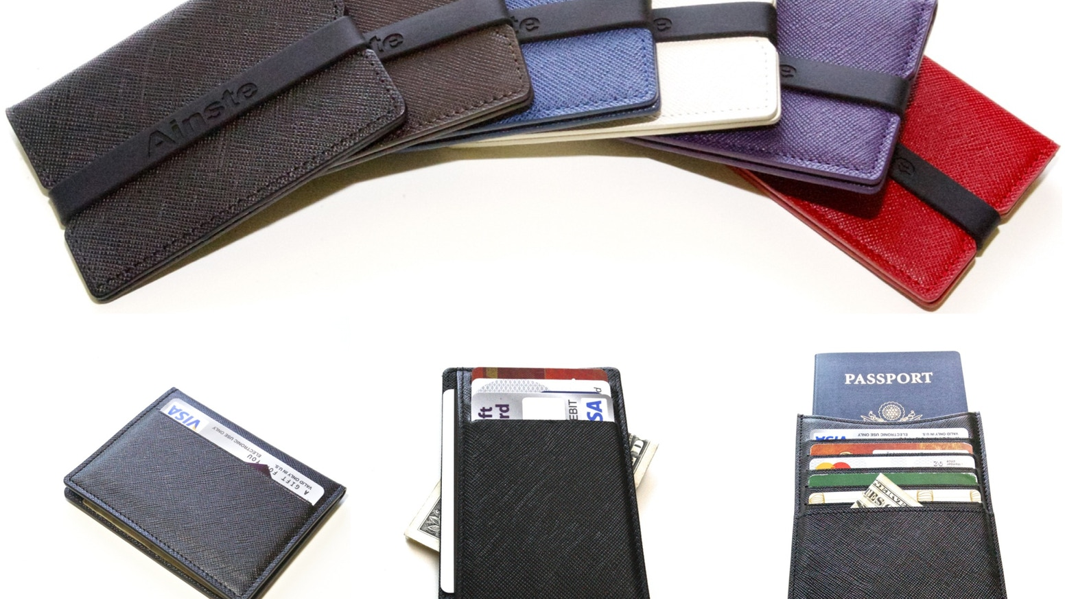 Ainste New Designs of Thin Front Pocket Wallets.The Best Slim Compact Leather Wallets with RFID Protection.