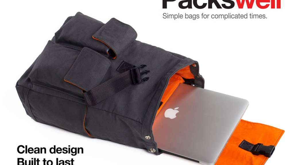 Packswell: Simple bags for complicated times. Made in USA. project video thumbnail