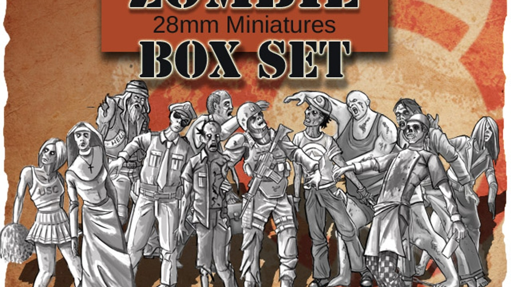 Project image for Zombie Miniatures,Survivors, Barricades and Walls in 28mm. (Canceled)