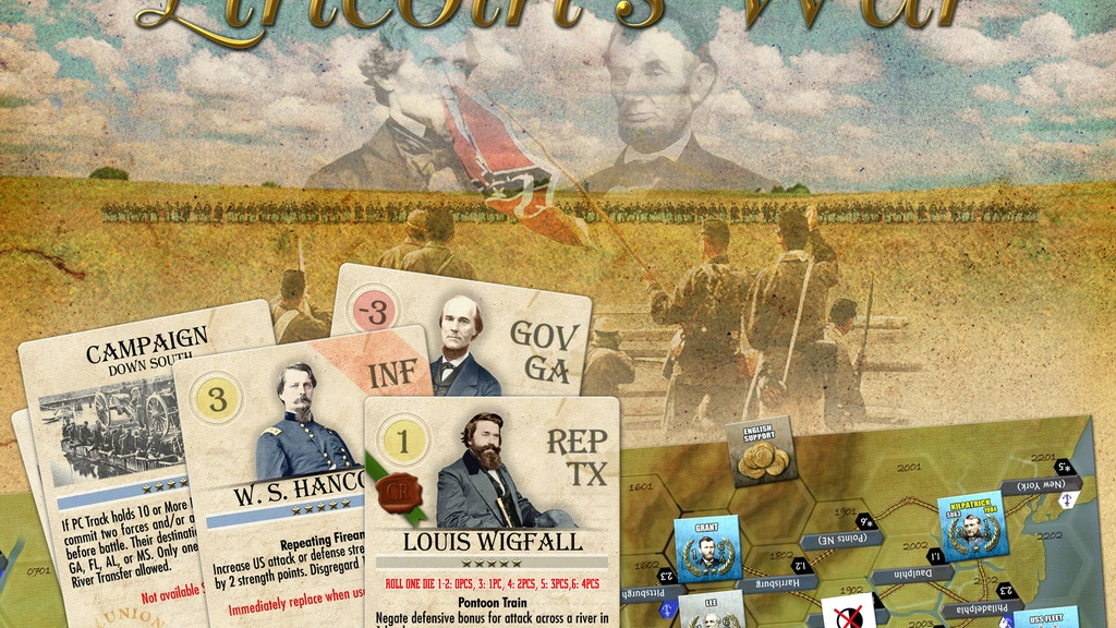 Lincoln's War - A Historical Board Wargame project video thumbnail