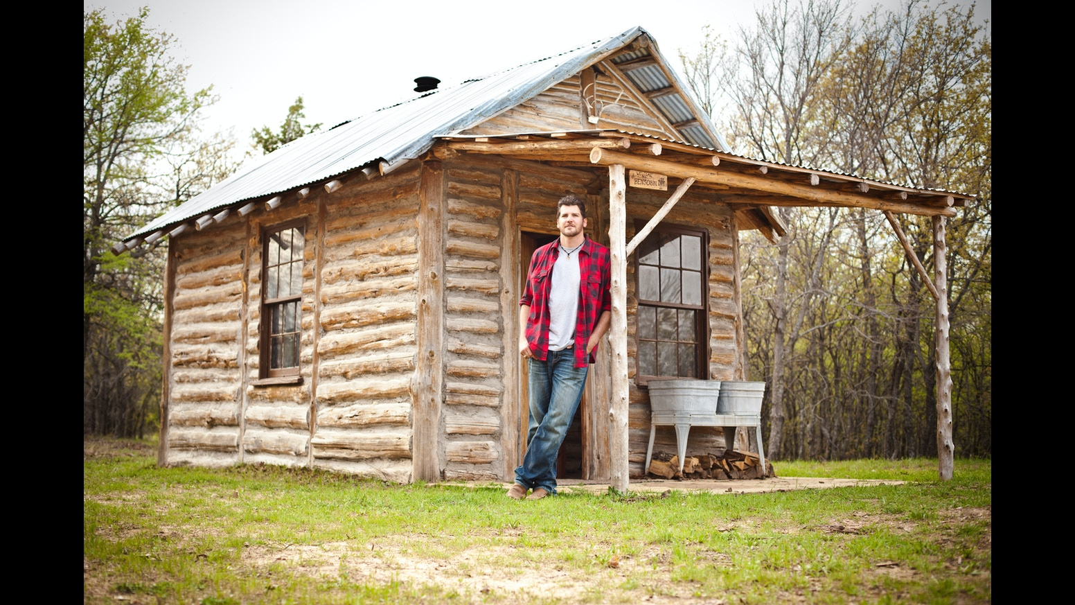 Amazing photo of just completed a life long dream building a log cabin. Now help  with #889635 color and 1552x873 pixels