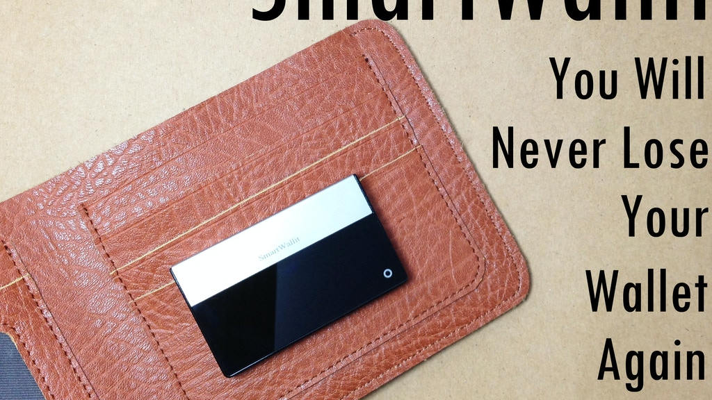 SmartWallit - You Will Never Lose Your Wallet Again project video thumbnail