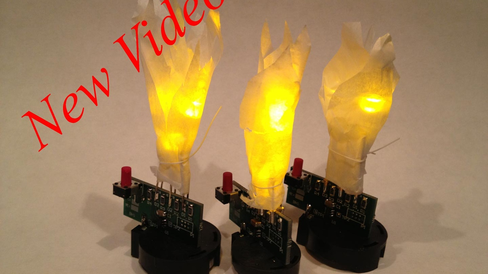 Qflame Kit By David Christianson Kickstarter Flickering Candle Flamewax Led Candleled Electronic Circuit Build This Simple Simulates A Flame Without The Worry 3 Leds For An Animated Timed Modes Auto Off