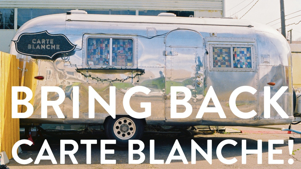 Bring Back Carte Blanche! project video thumbnail