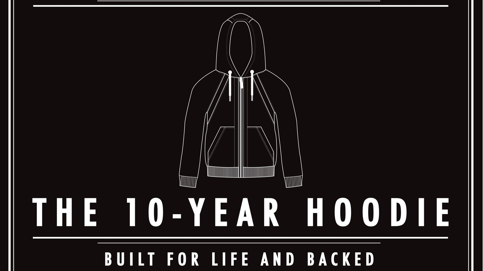 Kickstarter's first and only $1M fashion project was built on the premise that every stitch tells a story; A Premium Sweatshirt Designed for Life, Guaranteed for a Decade and Backed with FREE Mending!