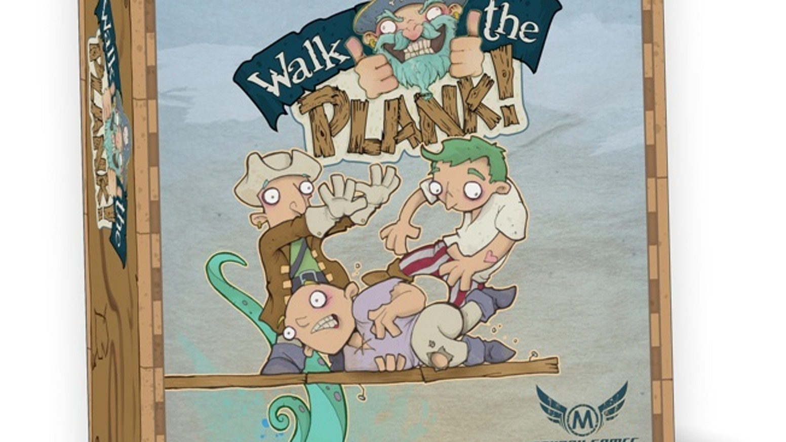 Walk The Plank is a game featuring the dumbest pirates ever!  3-5 Players & just 20 minutes.  It is a Prequel to AWARD WINNING Get Bit!