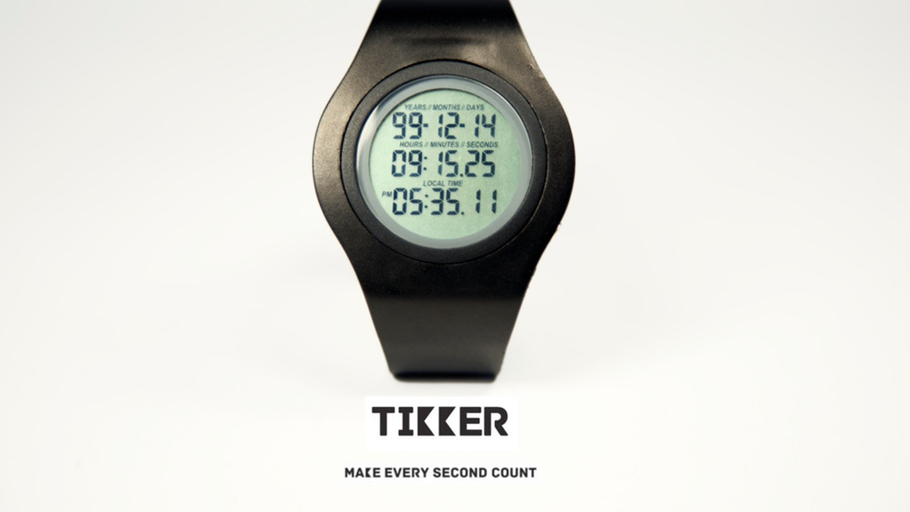 Tikker – The wrist watch that counts down your life! project video thumbnail