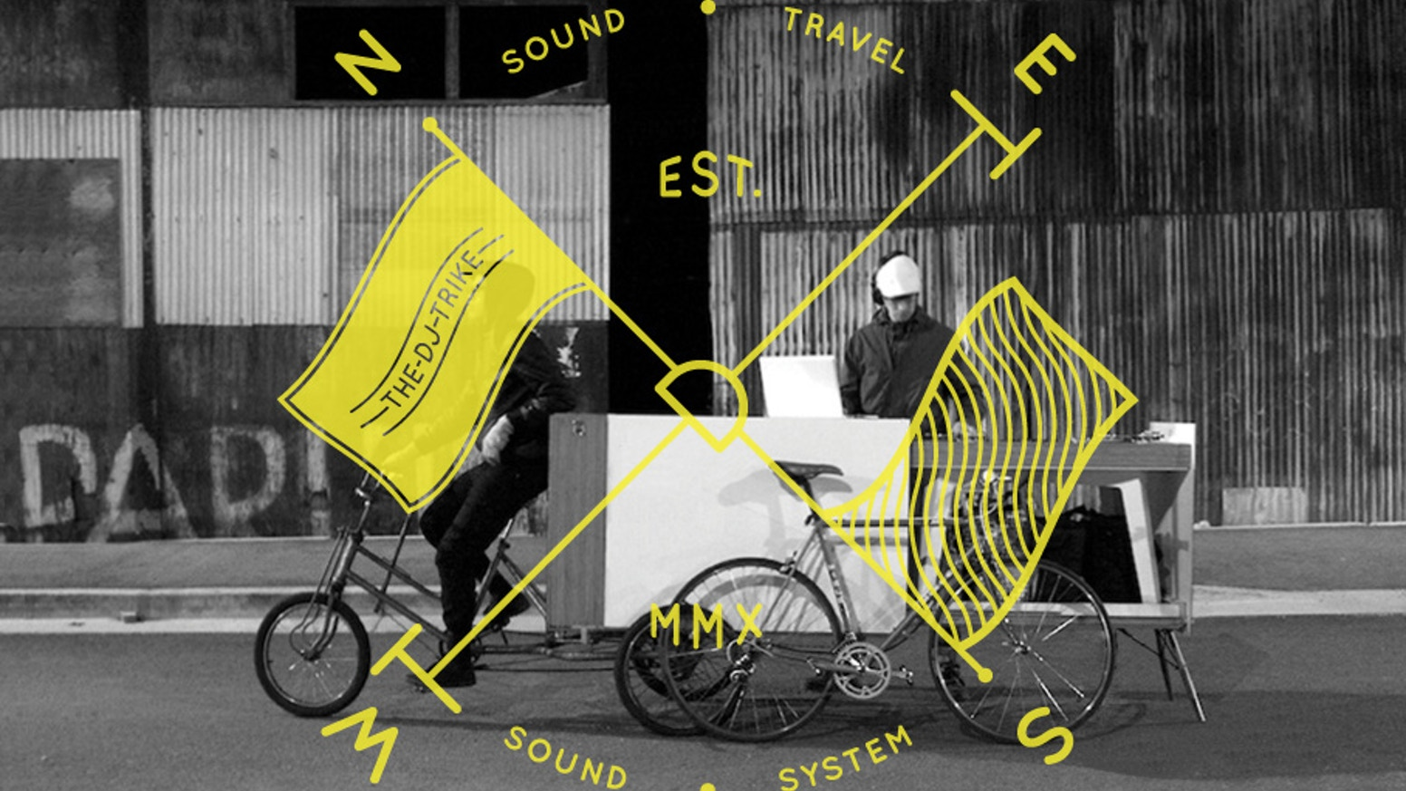 A pedal-powered soundsystem, public art + design project, and cycling initiative on three wheels.