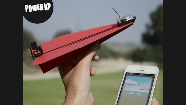 kickstarter smartphone controlled paper airplane