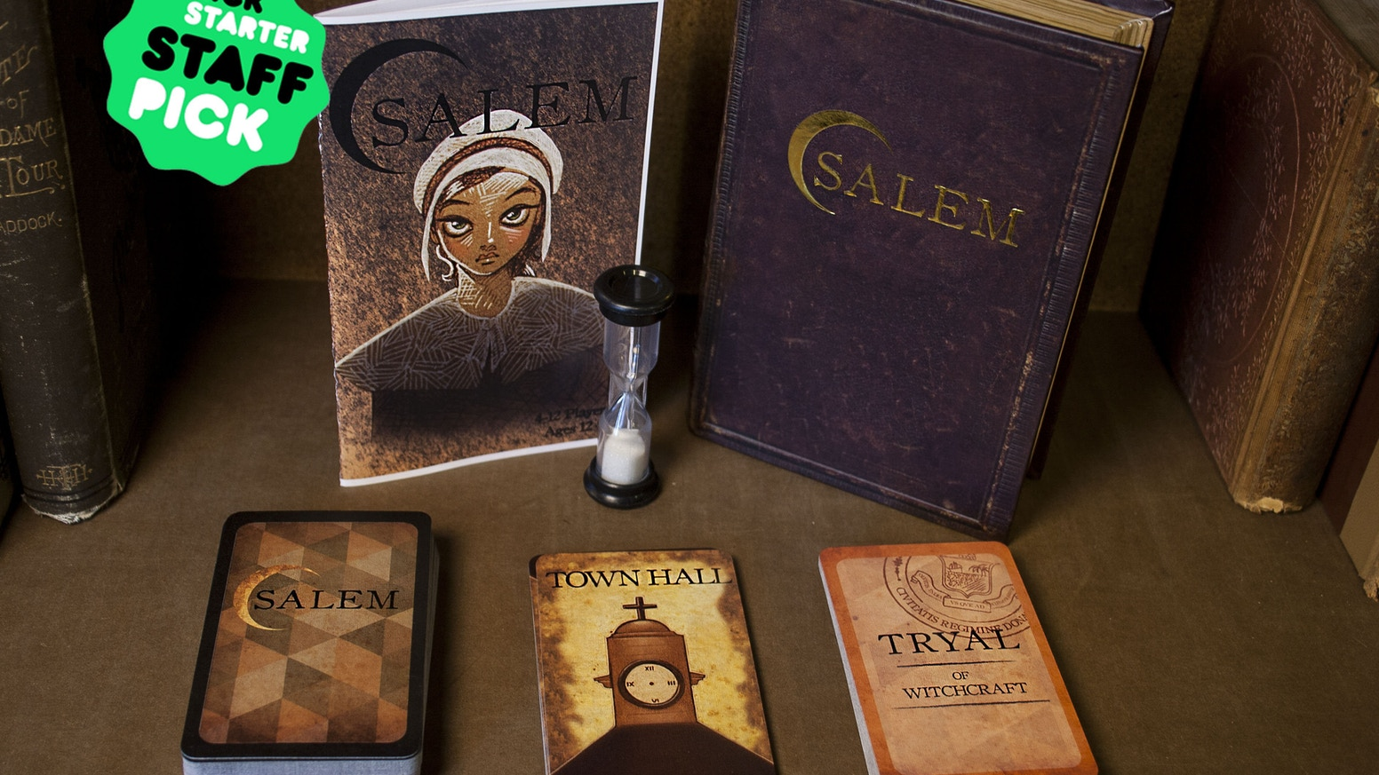 Accuse and defend your fellow townsfolk as you hunt down the witches of Salem. Act fast, before conspiracy turns you against your own. Successfully funded! Available at www.facadegames.com.
