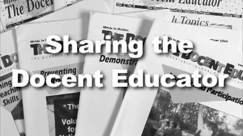 The Docent Educator Online project video thumbnail
