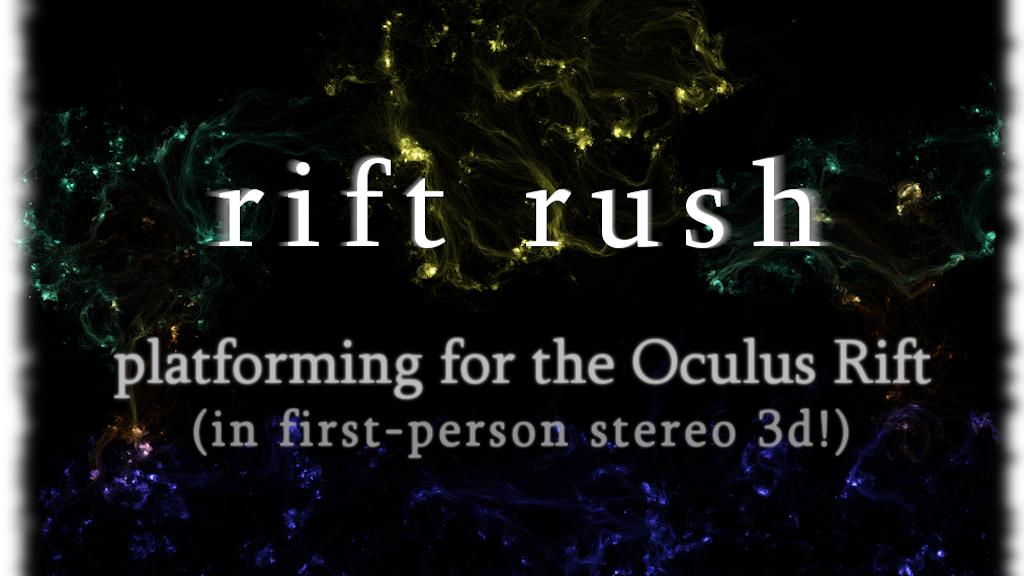 Rift Rush: First Person Platformer for Oculus Rift project video thumbnail