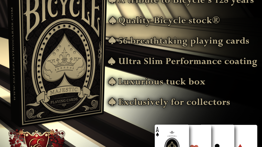 Majestic Bicycle® Playing Cards Deck project video thumbnail