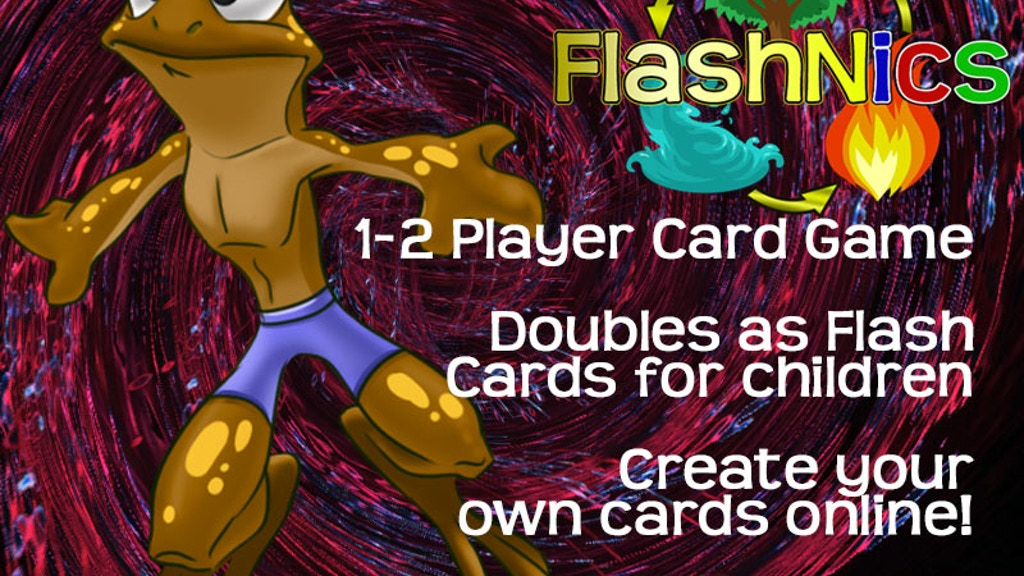 Casual card game that doubles as educational tool: FlashNics project video thumbnail