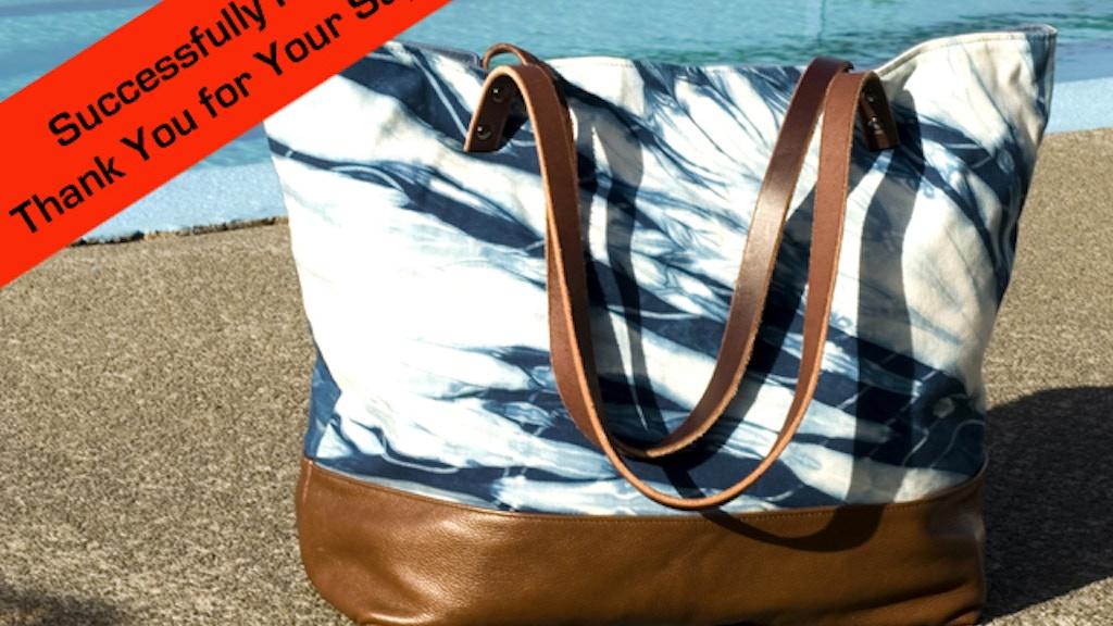 Beautiful Indigo Shibori Leather Bags Handmade in Hawaii project video thumbnail