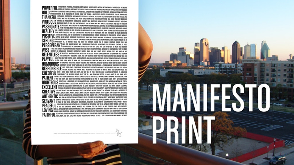 Manifesto Print - Powerful Words Together in Timeless Poster project video thumbnail