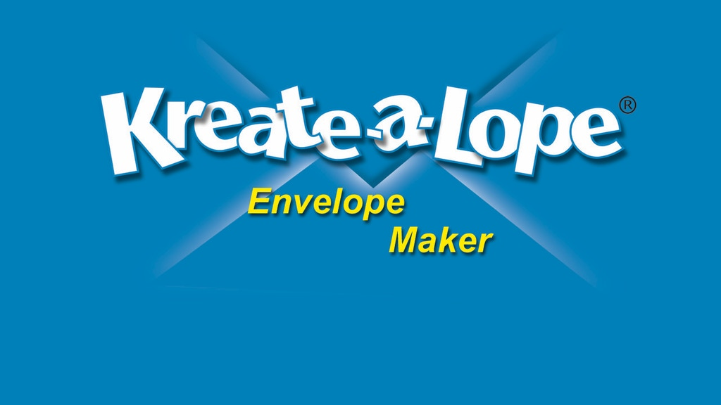 Kreate-a-lope® - The Fastest Envelope Maker on the Planet! project video thumbnail