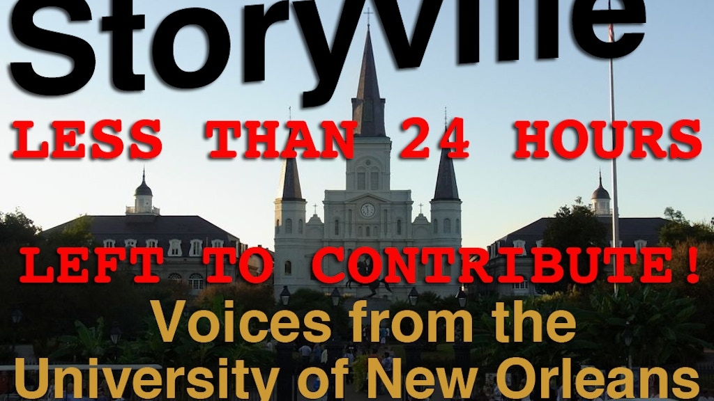 Storyville - Voices from the University of New Orleans project video thumbnail