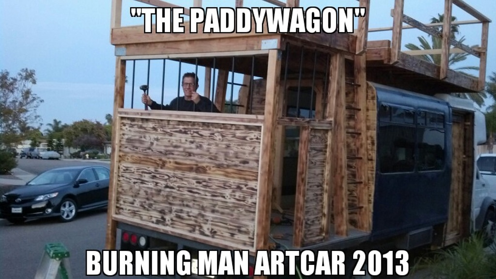 """The PaddyWagon"" Art Car for Burning Man 2013 by THE BRCFPD project video thumbnail"