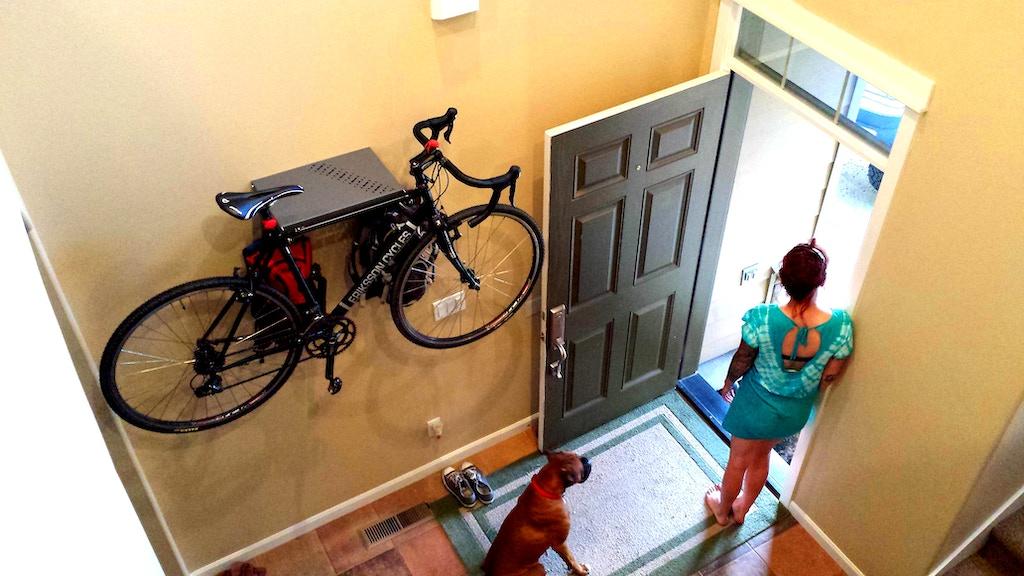 Bike Dock - a hideaway bicycle/gear storage rack project video thumbnail