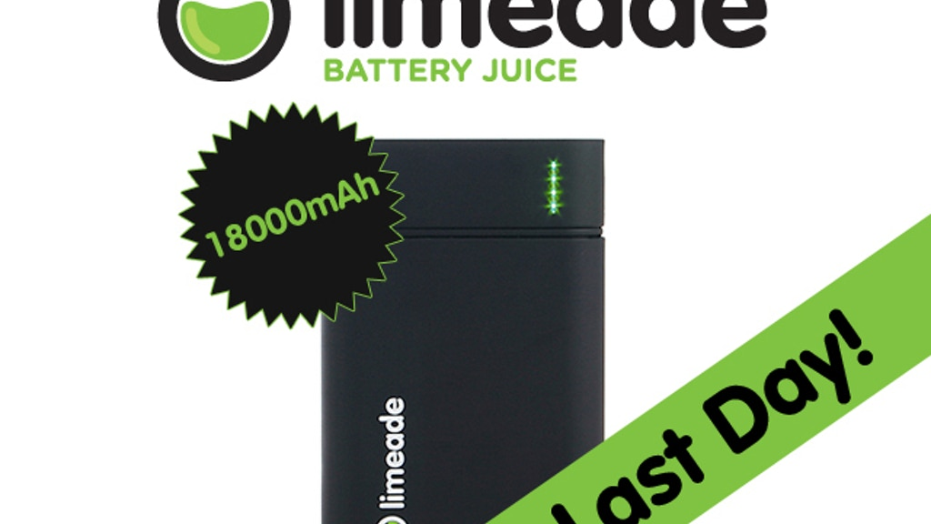 Limeade Blast 18,000mAh Ultra-High Capacity Battery Pack project video thumbnail