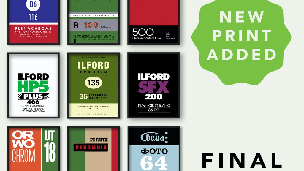 Photo Film Screenprint Series project video thumbnail
