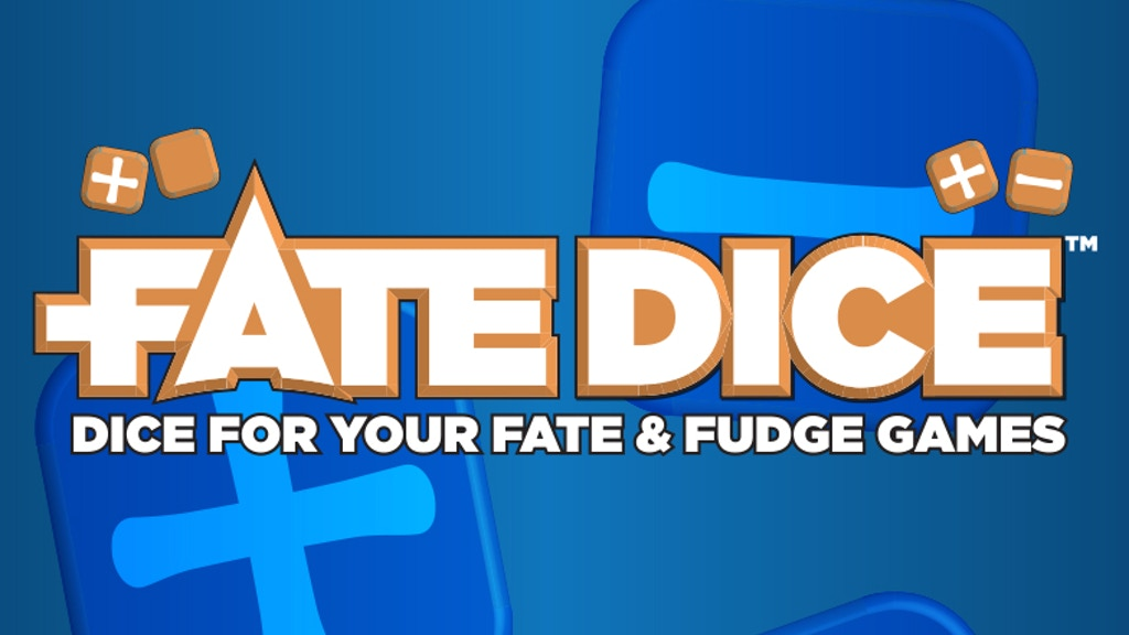 Fate Dice™: Dice For Your Fate & Fudge Games project video thumbnail