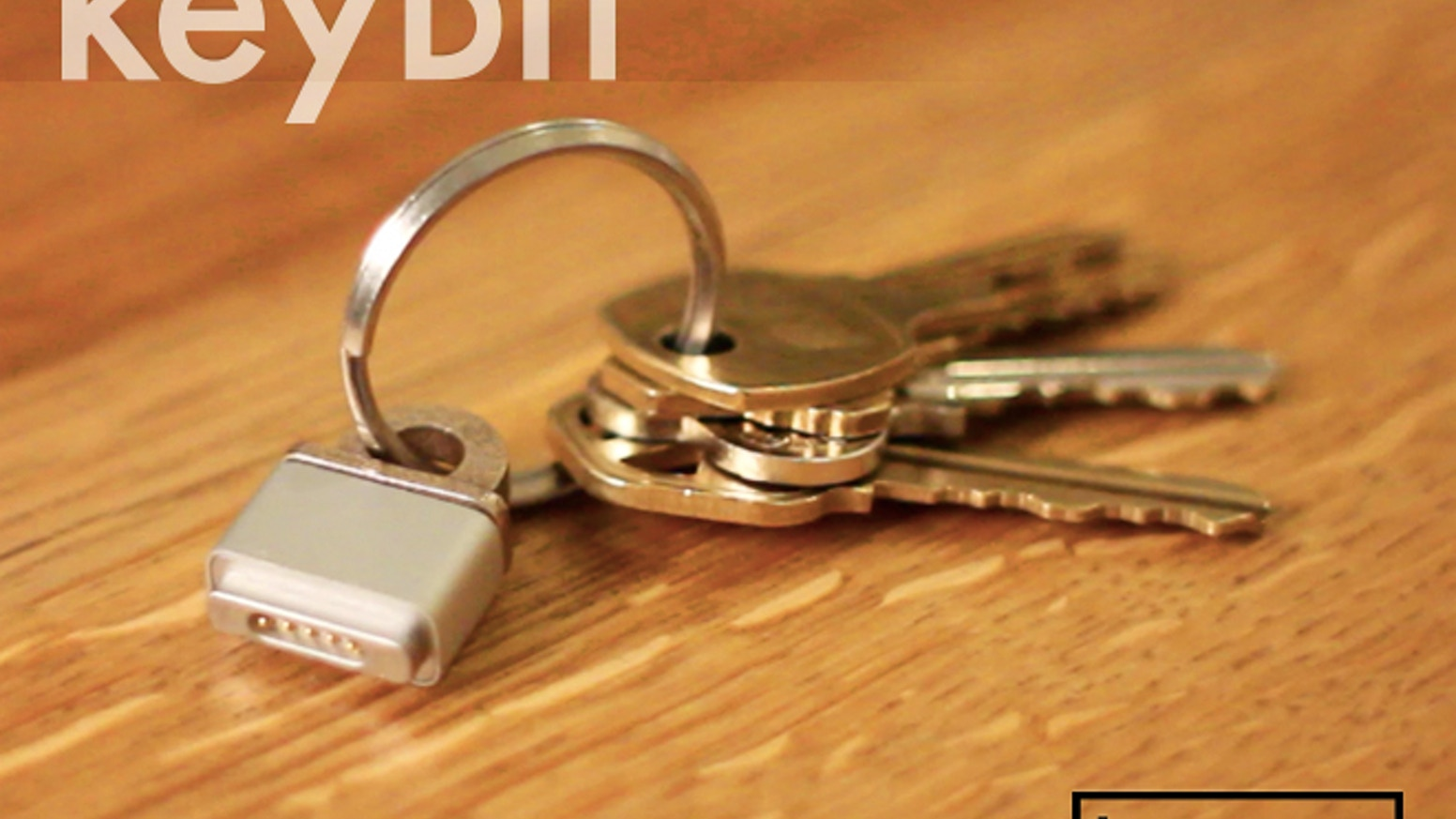 Never run out of MacBook power on the go with the KeyBit: the first MagSafe Adapter key ring.