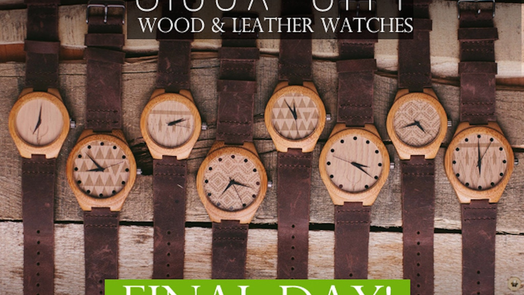 Watches made from all-natural wood and oil-stained leather project video thumbnail
