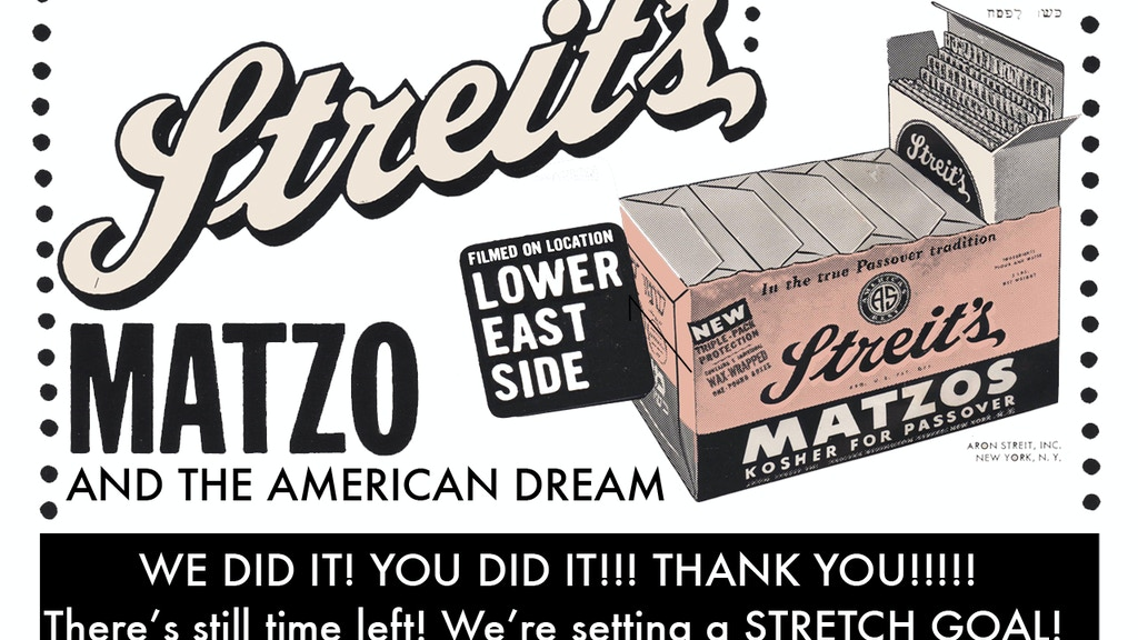 Streits: Matzo and the American Dream project video thumbnail