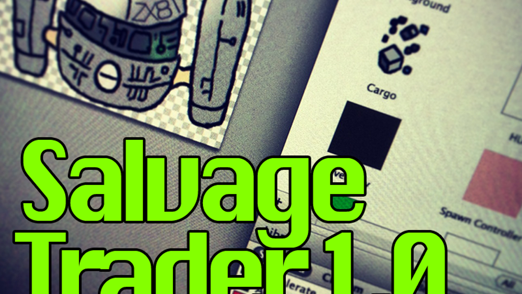 Salvage Trader : a 2D space adventure project video thumbnail
