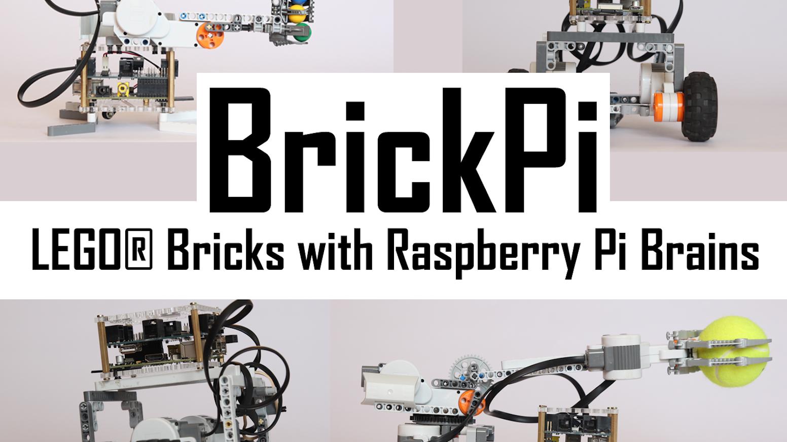BrickPi: LEGO® Bricks with a Raspberry Pi Brain by Dexter Industries