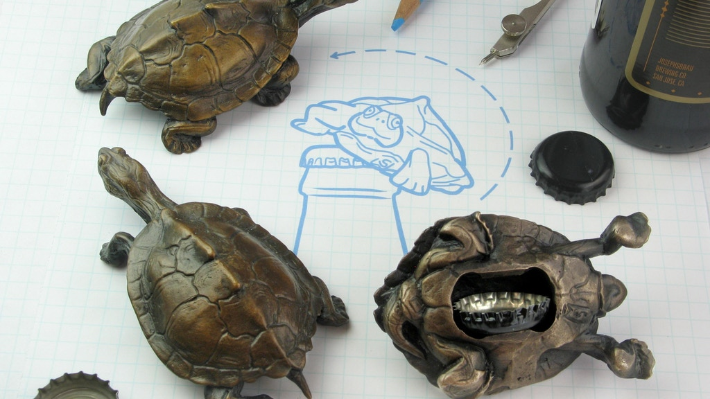 Bronze Turtle Beer Bottle Openers - Athos, Porthos & Aramis project video thumbnail