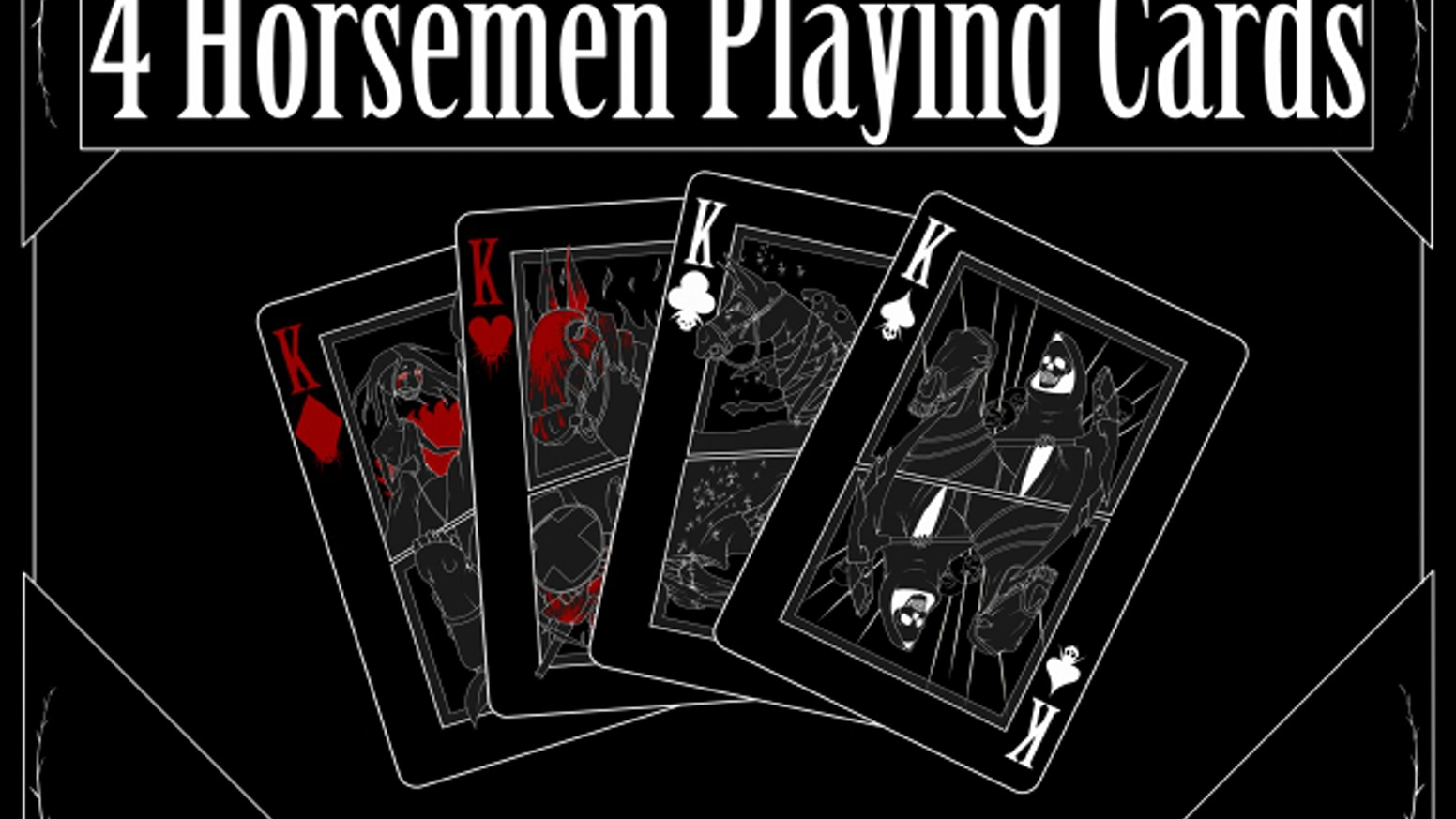 4 Horsemen Playing Cards Art By Krinkels Sean Jentis Kickstarter