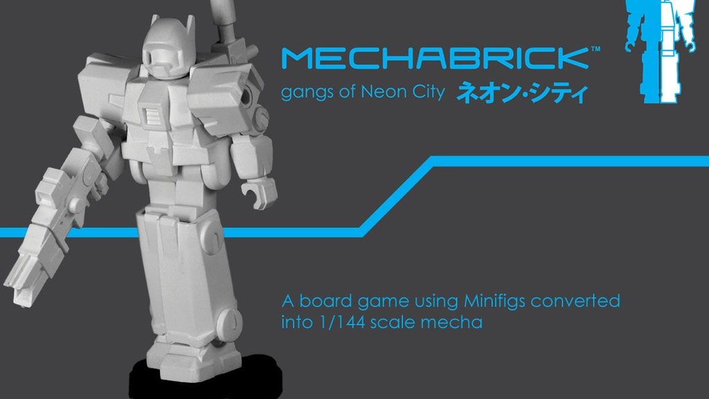 Mechabrick - A Minifig/Mecha board game and models project video thumbnail