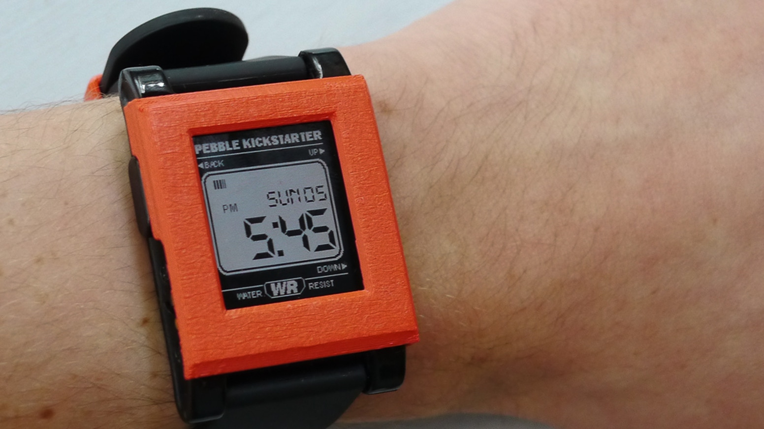 Pebble Watch Covers By Drew Beller Kickstarter Time Smartwatch Red 3d Printed Interchangeable To Give It A Fresh New Look