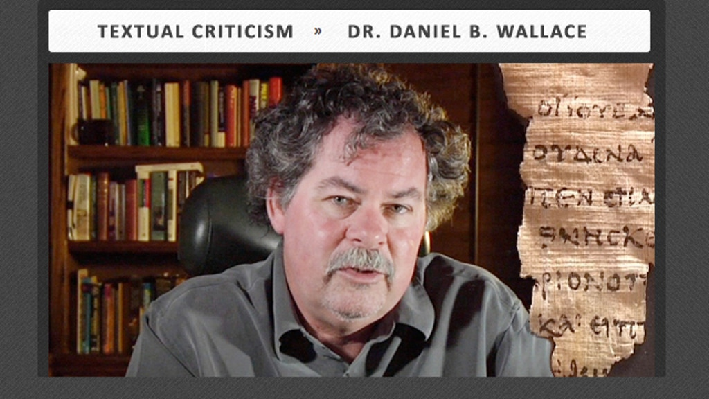 Credo Course: Textual Criticism by Dan Wallace project video thumbnail