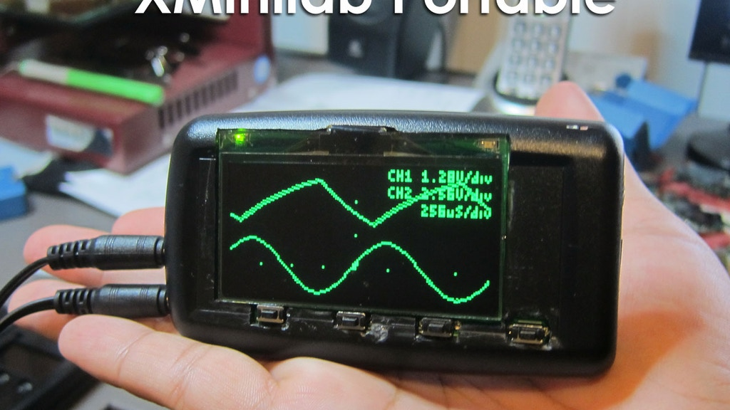 Xminilab Portable Oscilloscope project video thumbnail