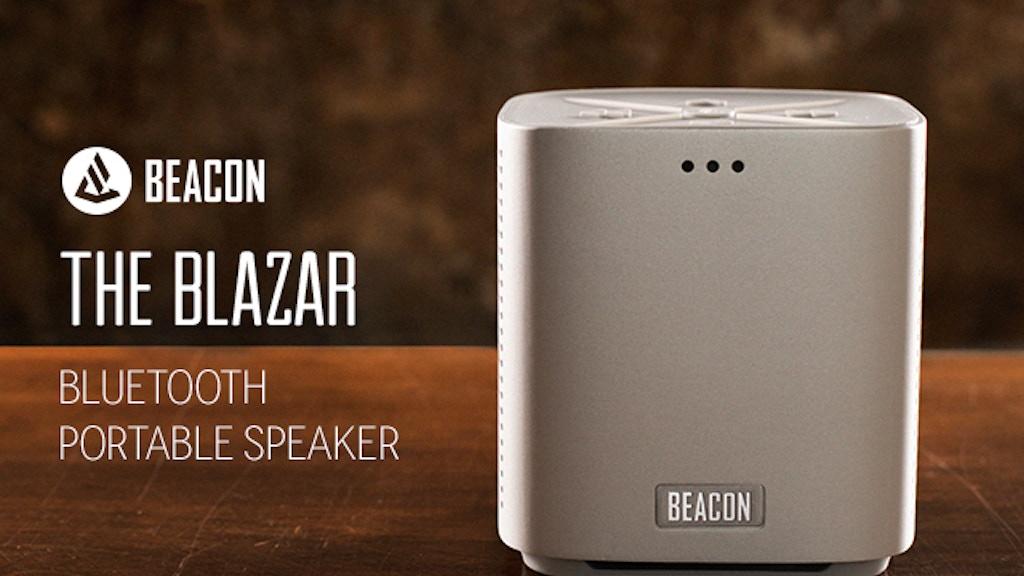 BLAZAR: Aluminum Bluetooth Speaker & Artist Collaboration project video thumbnail