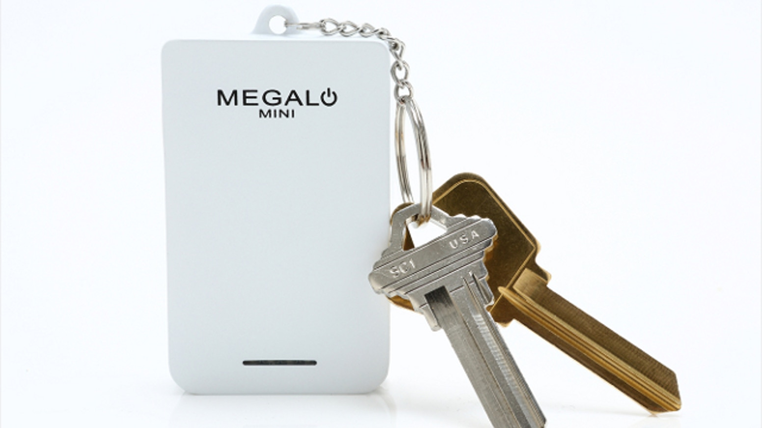 Megalo Mini is the smallest portable charger with a capacity of 1400 mAh - powerful enough to charge your smartphone for the whole day.
