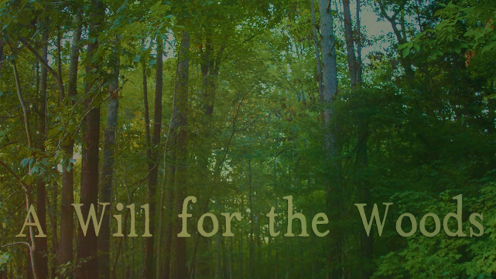 A WILL FOR THE WOODS — Finishing, Outreach & Distribution project video thumbnail