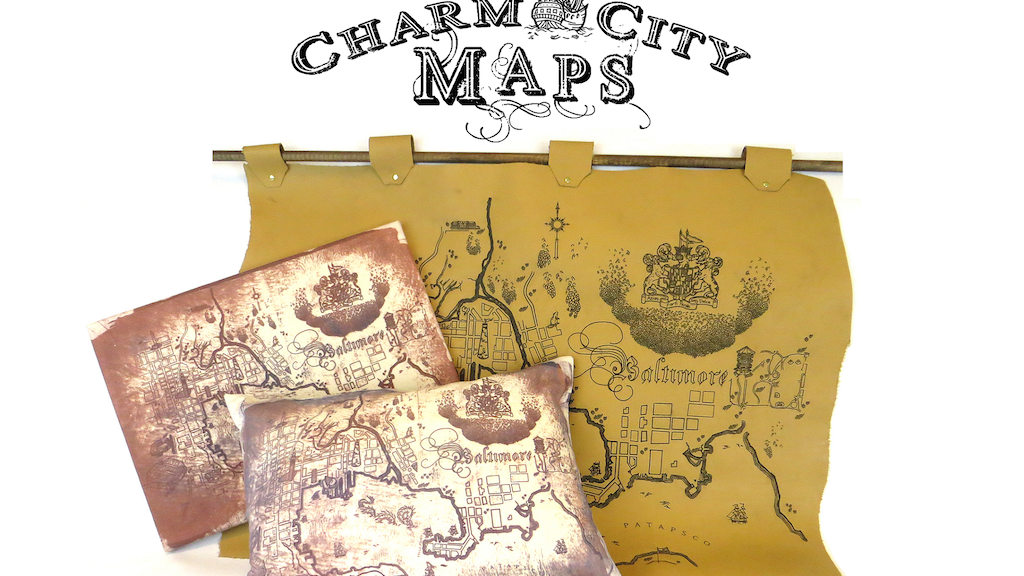 Charm City Maps - Canvas & Leather Fantasy Maps of Your City project video thumbnail