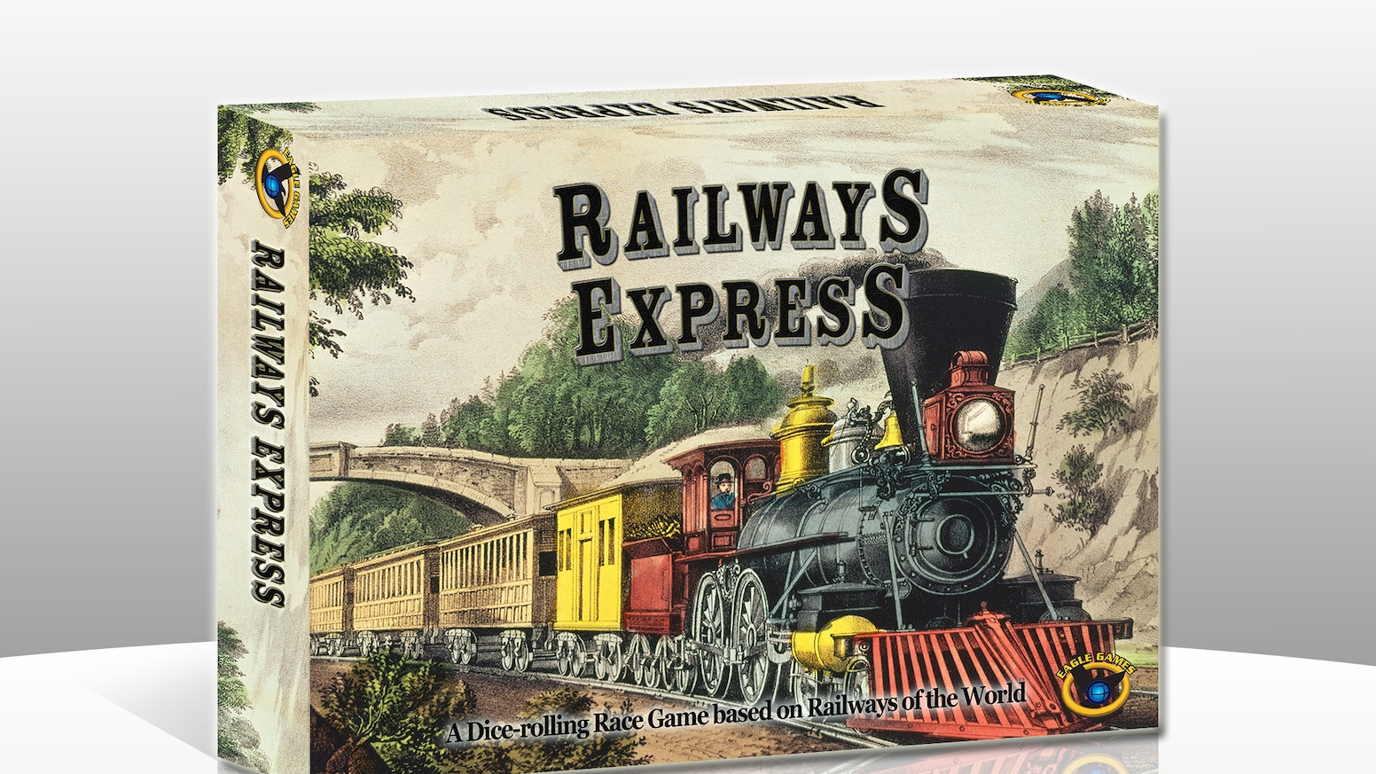 Travel the US, Canada & Mexico using the Railways of the World system! Build track linking all 4 cities of your color first & you win!