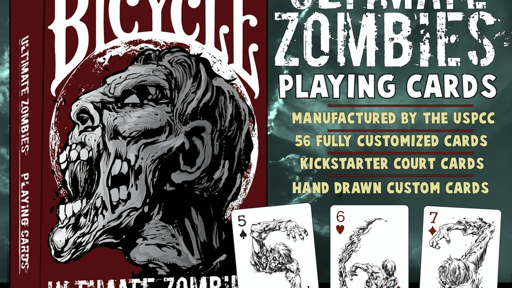 Ultimate Zombies Playing Cards USPCC Bicycle® project video thumbnail