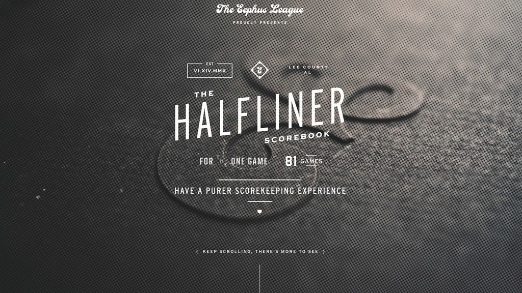 The Eephus League HalfLiner Scorebook project video thumbnail