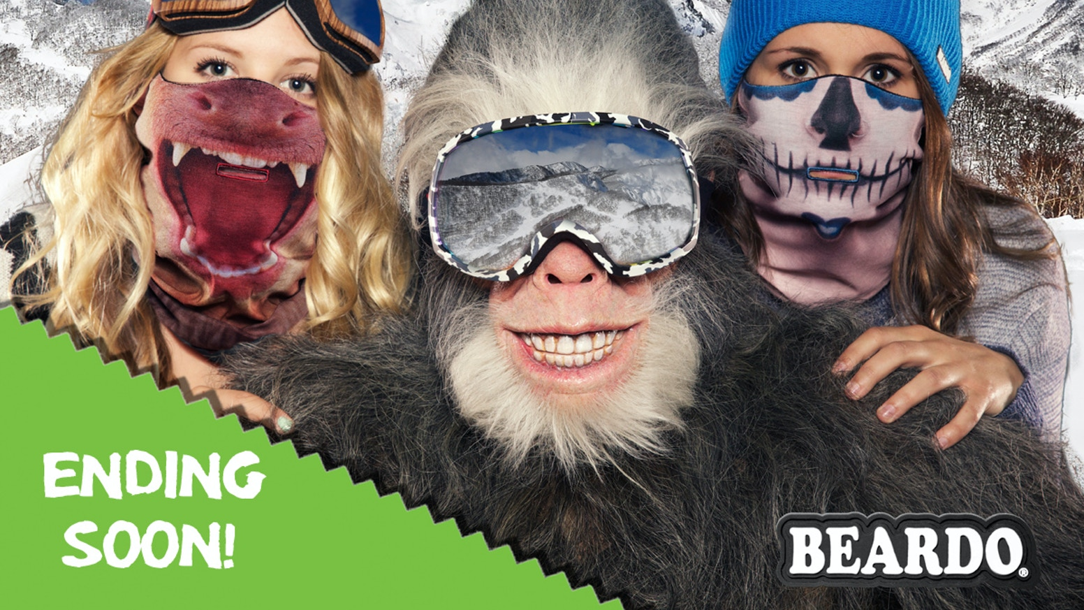 Winter is coming & we've designed a new 360˚ HD Animal Ski Mask to keep you WARMER, so you can PLAY longer!