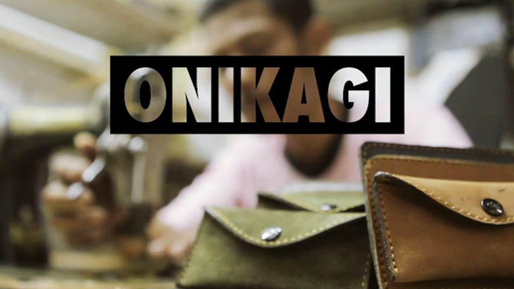 ONIKAGI: Modular Leather Wallets for Humanity project video thumbnail