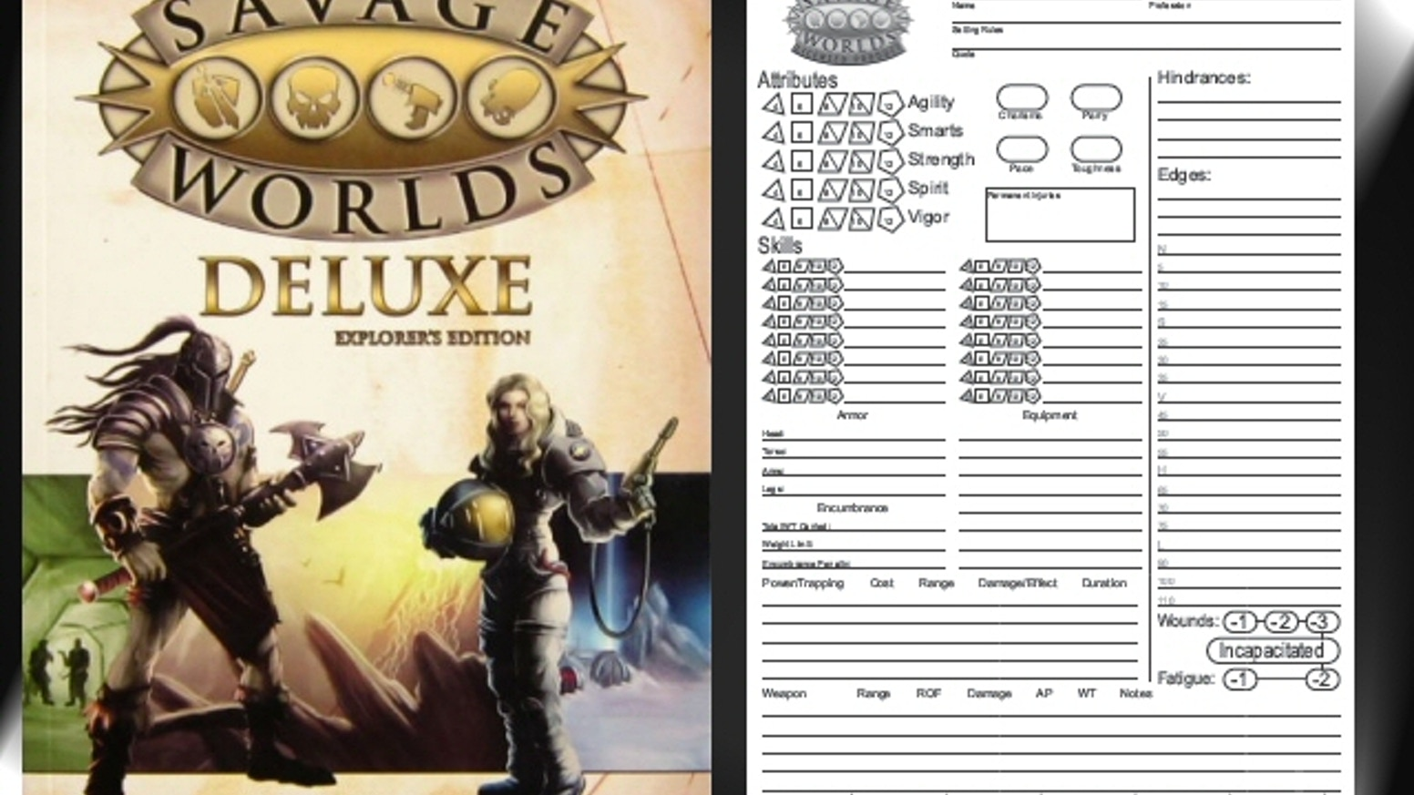 Savage worlds character sheet pad by peter regan kickstarter for Bureau 13 savage worlds
