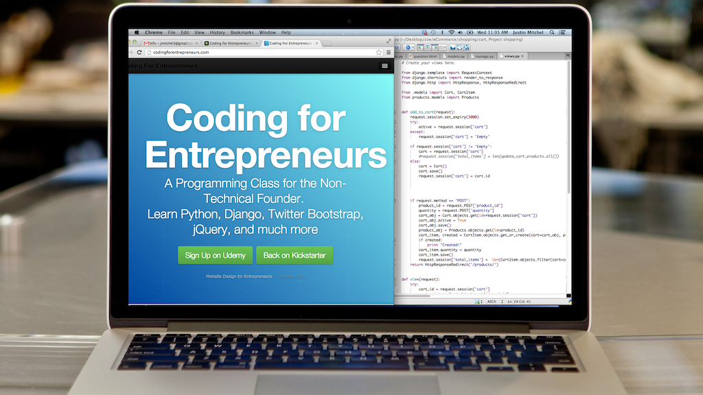 Coding for Entrepreneurs project video thumbnail
