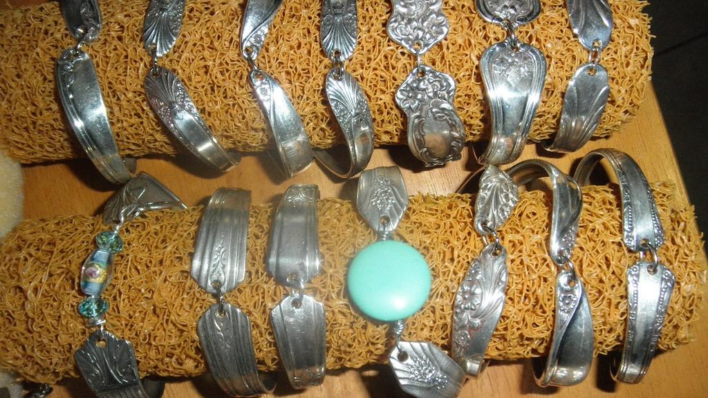 Vintage Spoon Amp Silverware Jewelry Bracelets Pendants